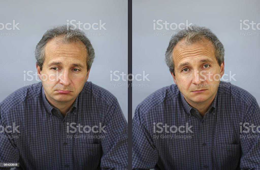Disappointed man (REQUEST) royalty-free stock photo