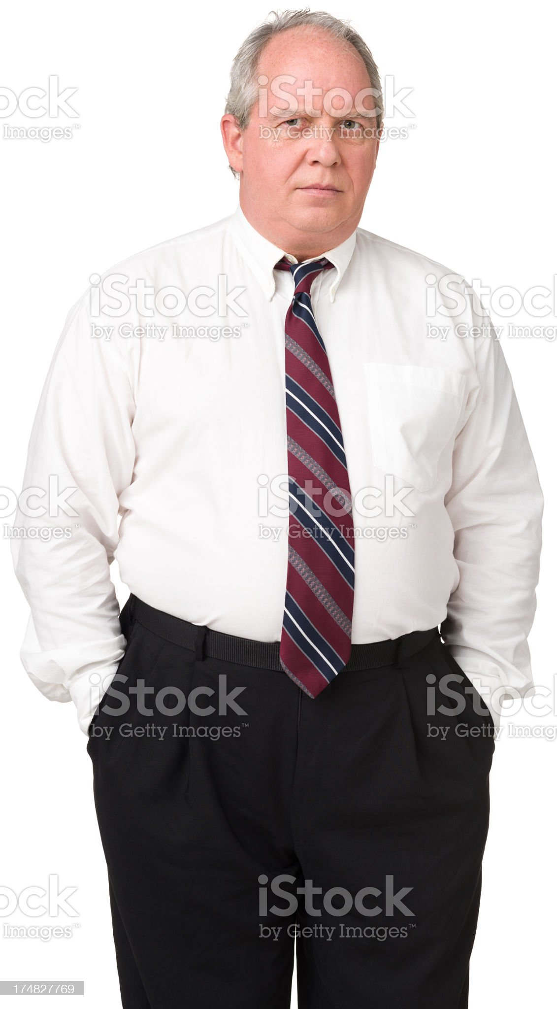 Disappointed Mature Man Office Worker royalty-free stock photo