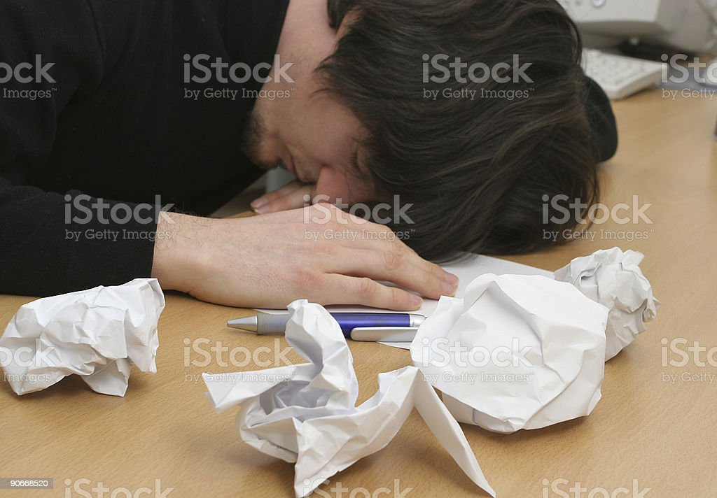 Disappointed worker royalty-free stock photo