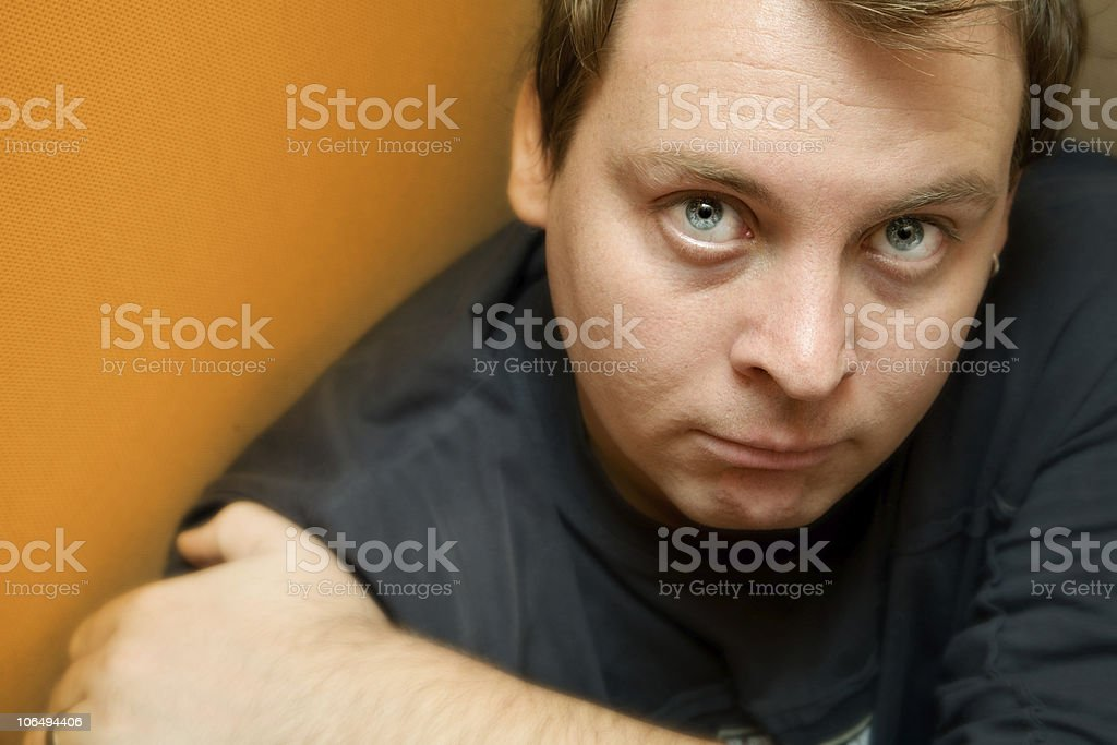 disappointed young man royalty-free stock photo