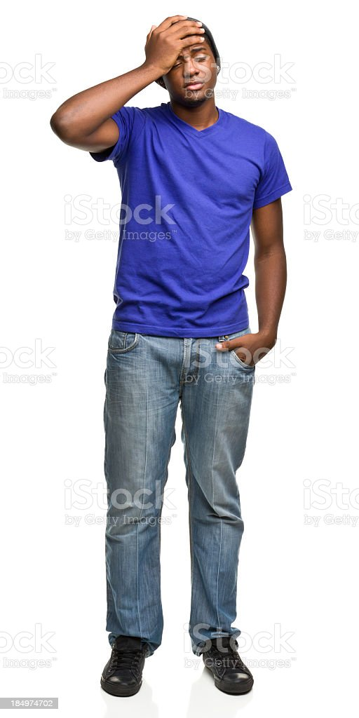 Disappointed Young Man Standing stock photo