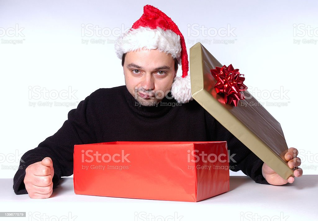 disappointing present royalty-free stock photo