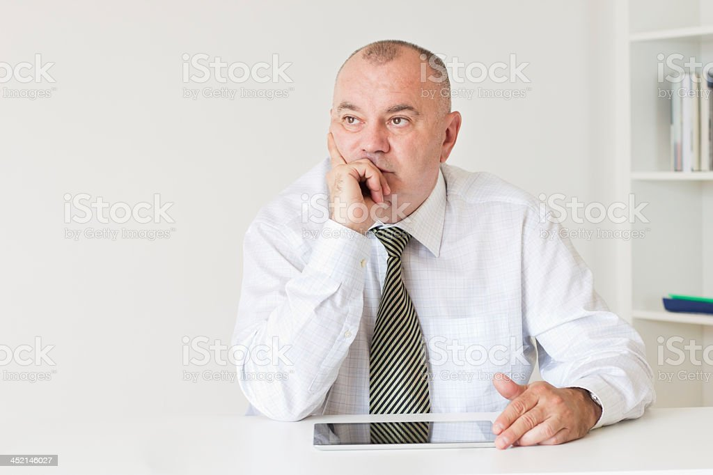 Disappointment in business stock photo