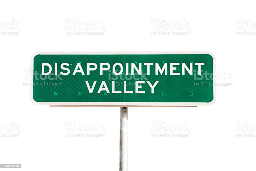 Disappointment stock photo