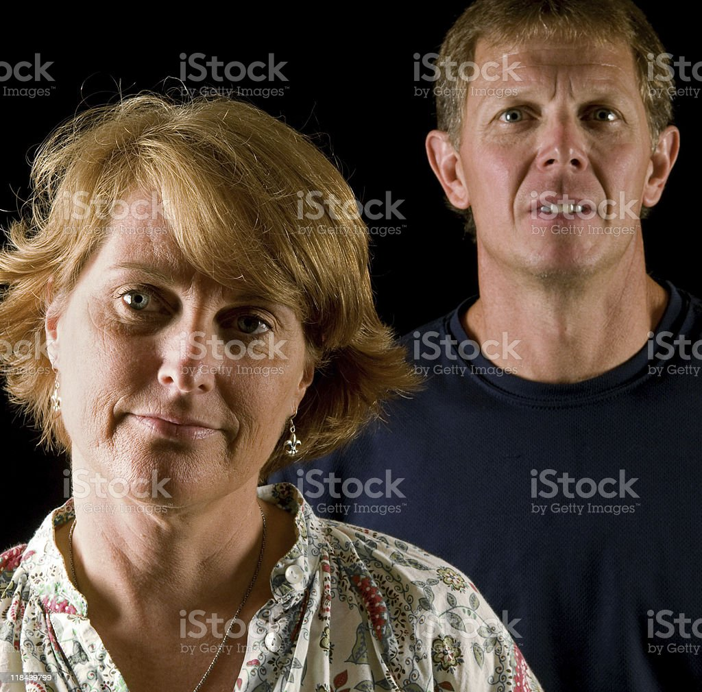 Disapproving parents royalty-free stock photo