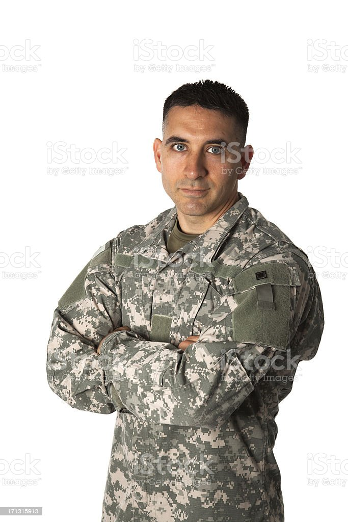 Disapproving Soldier stock photo