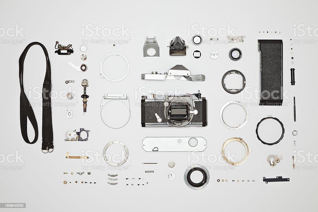 Disassembled Camera stock photo