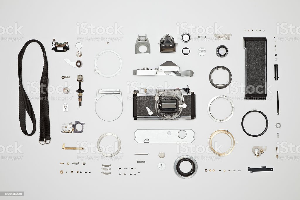 Disassembled Camera stock photo