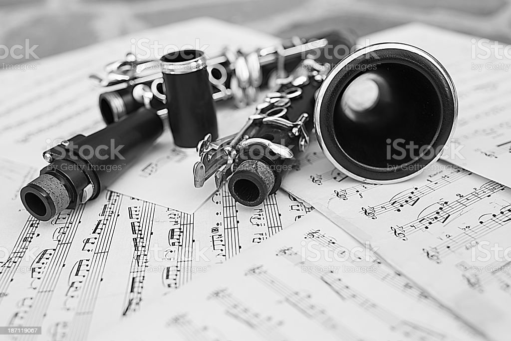 Disassembled Clarinet royalty-free stock photo
