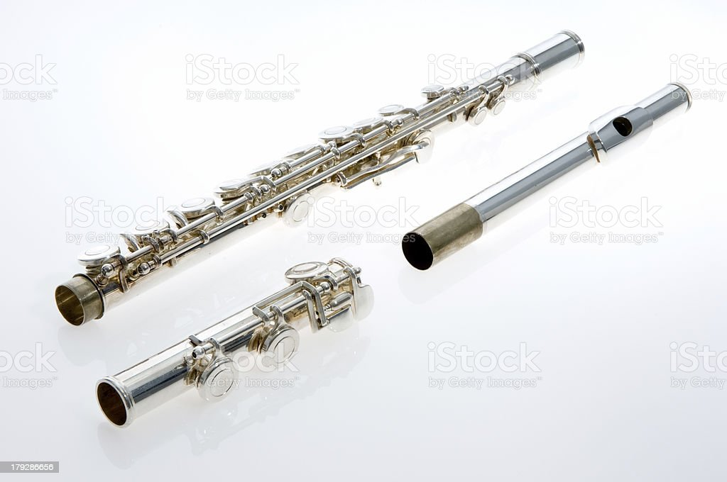 Disassembled Flute on Light Table stock photo