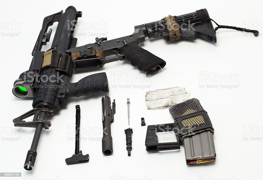 M16 disassembly. royalty-free stock photo