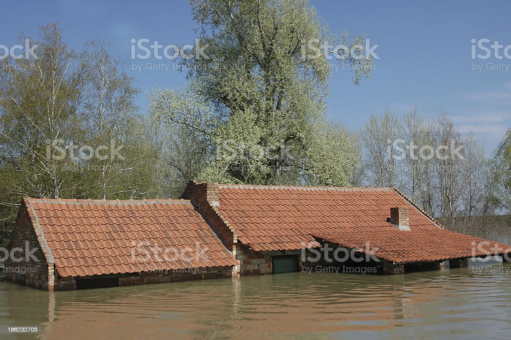 disaster due to flooding stock photo