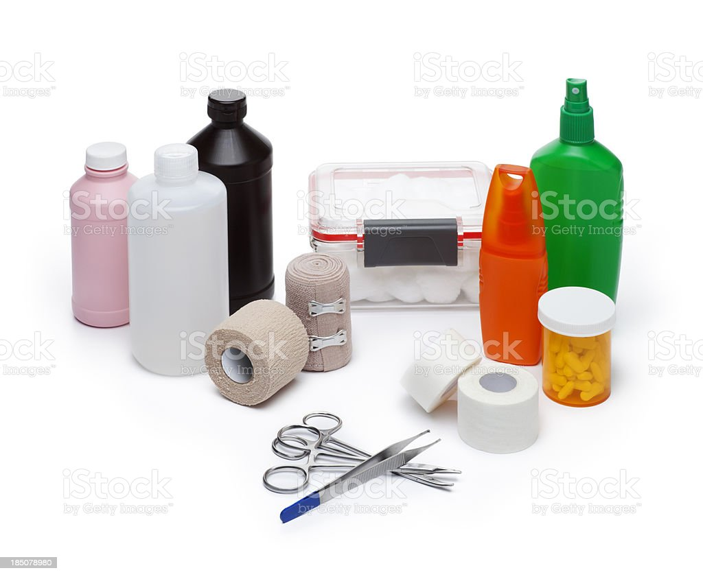 Disaster Emergency Medical Supplies stock photo
