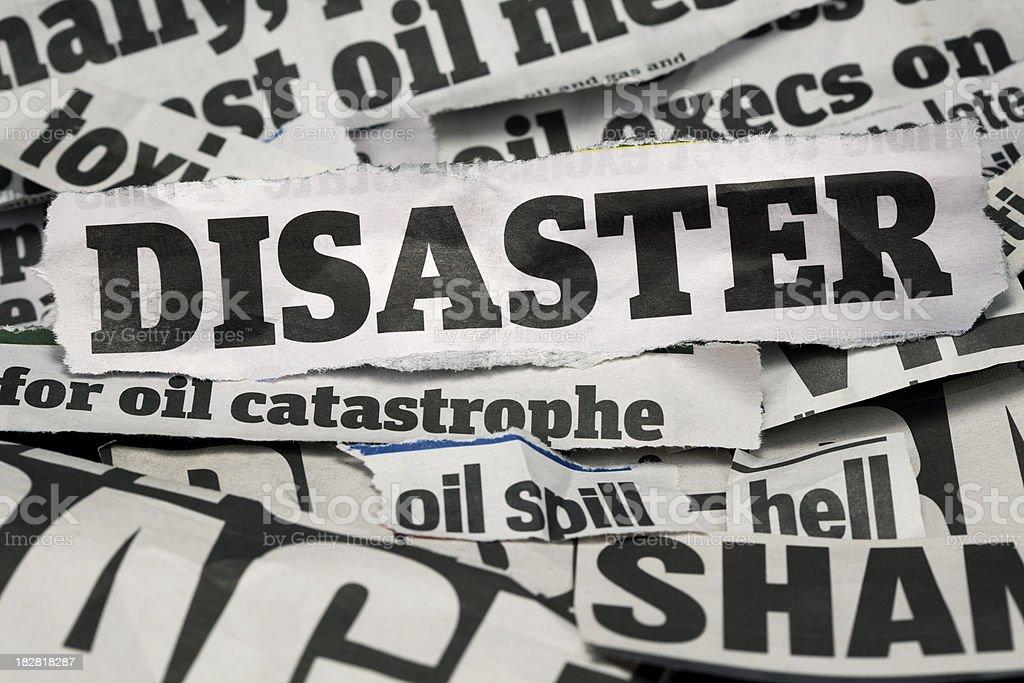 disaster headlines royalty-free stock photo