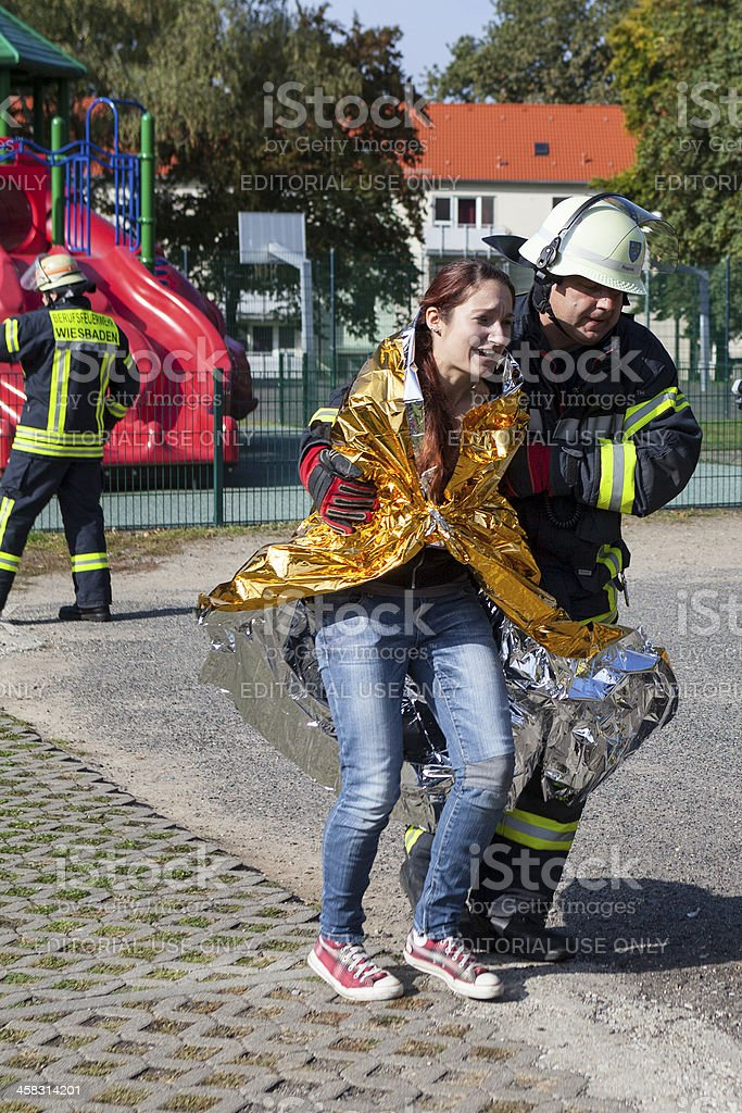 Disaster management exercise, mass-casualty incident stock photo