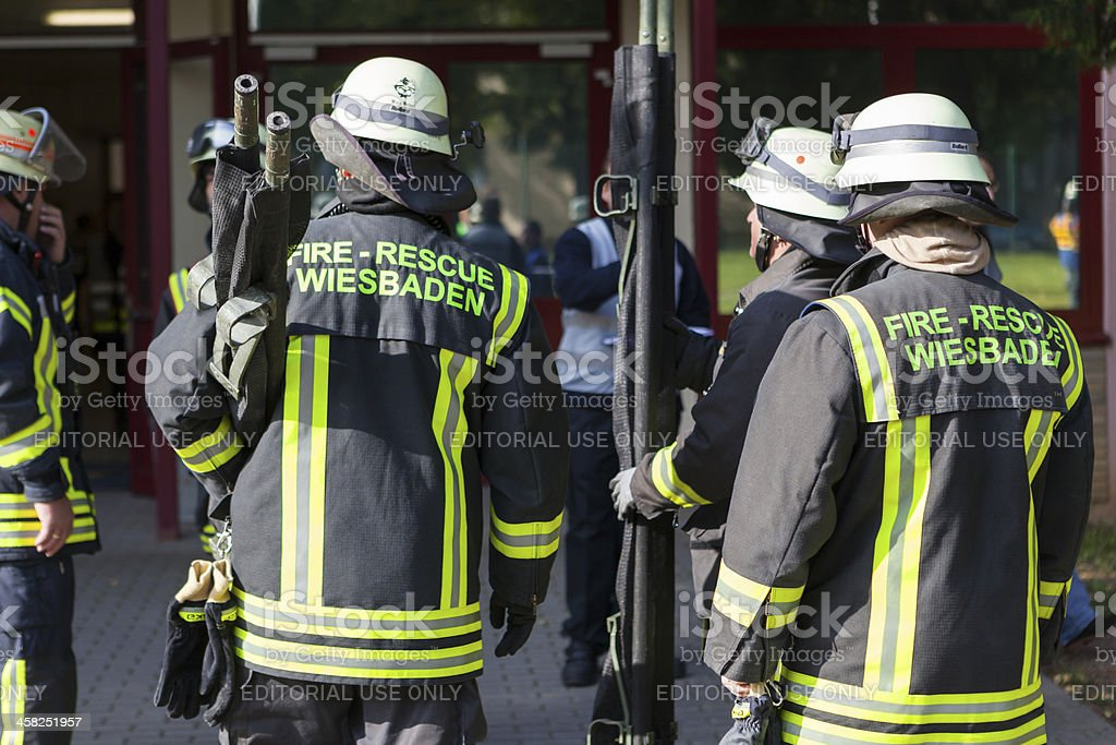 Disaster management exercise, Wiesbaden-Hainerberg royalty-free stock photo