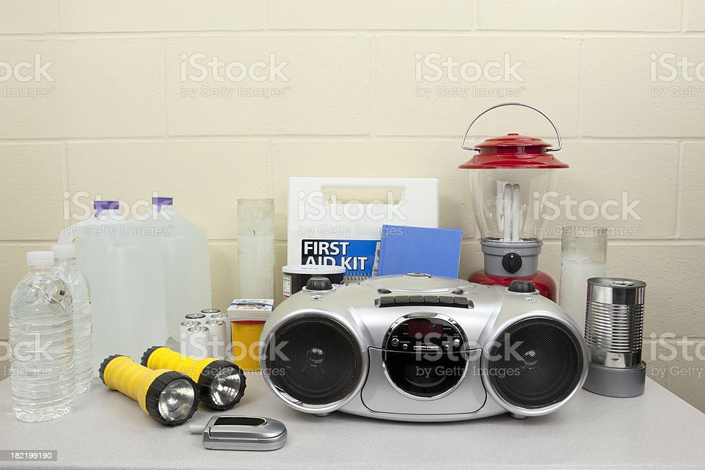 Disaster or Blackout Supplies stock photo
