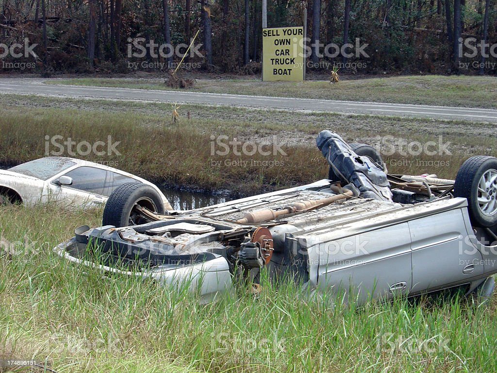 Disaster Parking stock photo