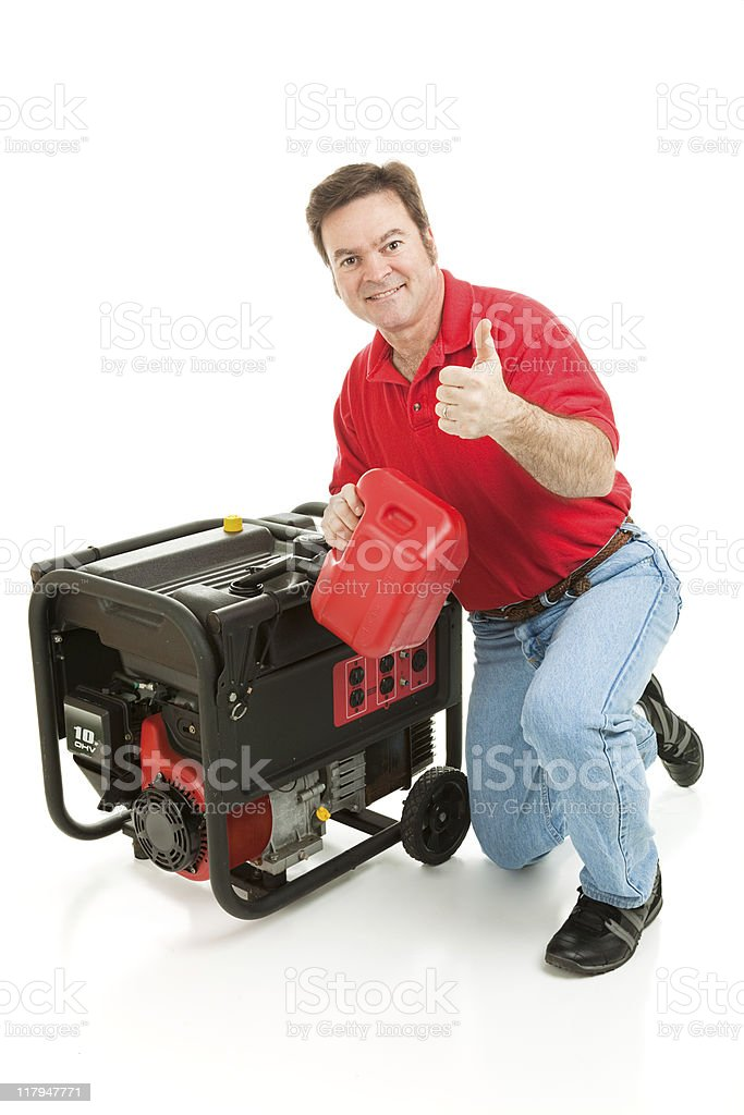 Disaster Preparedness - Thumbs Up royalty-free stock photo
