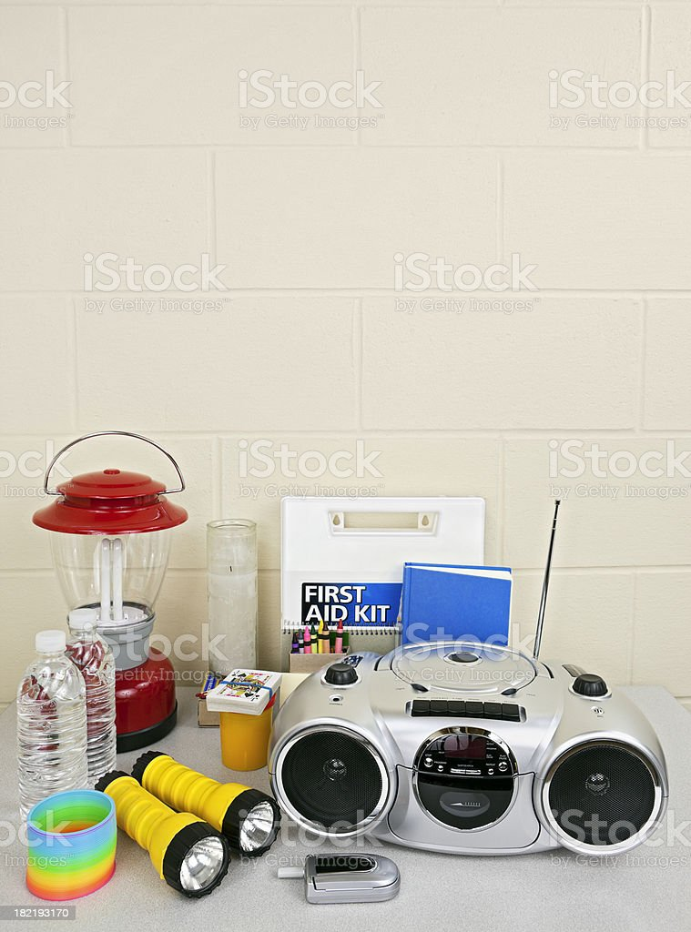 Disaster Preperation Kit stock photo
