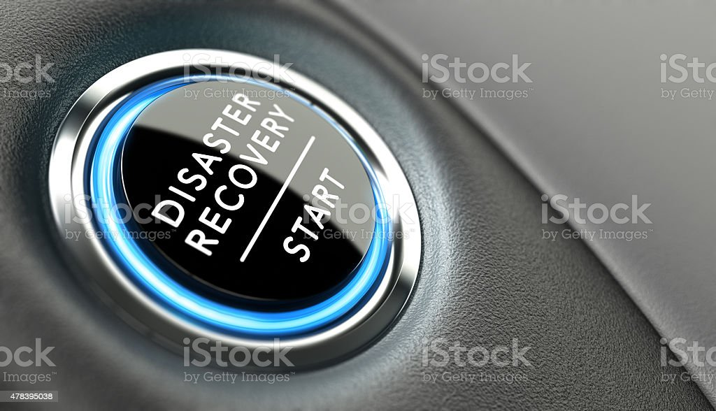 DRP, Disaster Recovery Plan stock photo