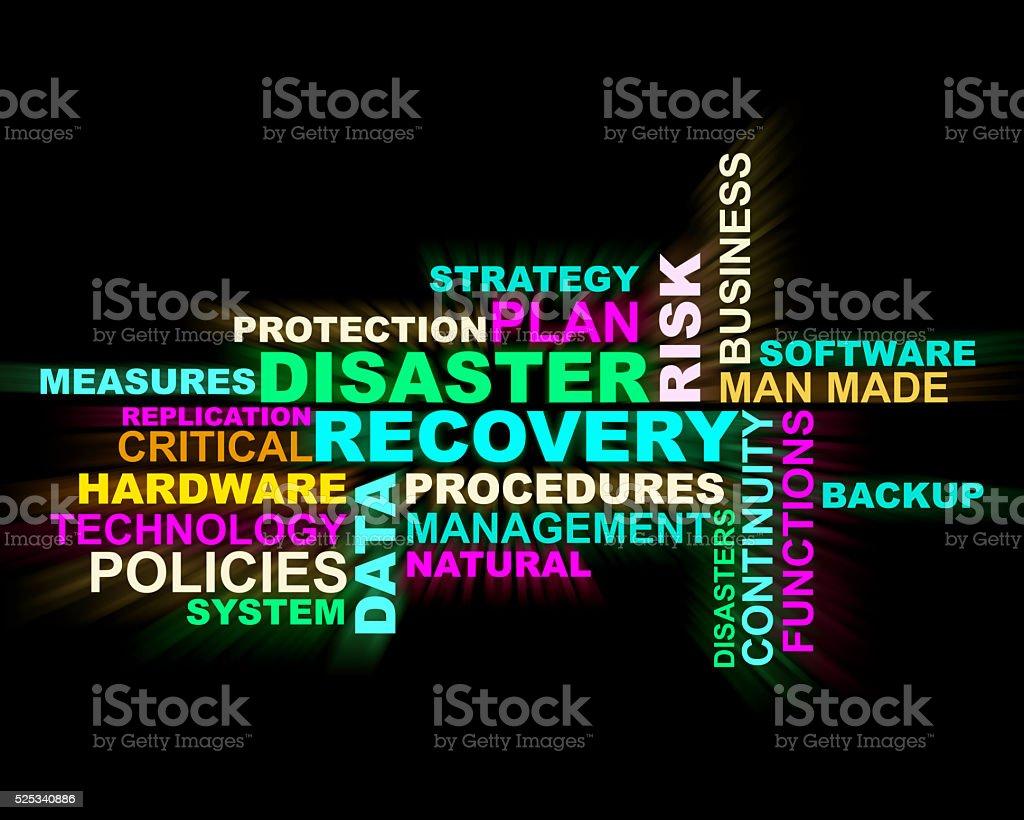 Disaster,recovery,procedures 3d crossword stock photo