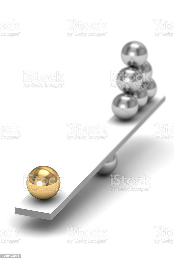 disbalance (high resolution 3D image) stock photo