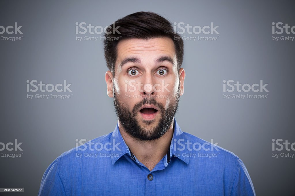 Disbelief stock photo