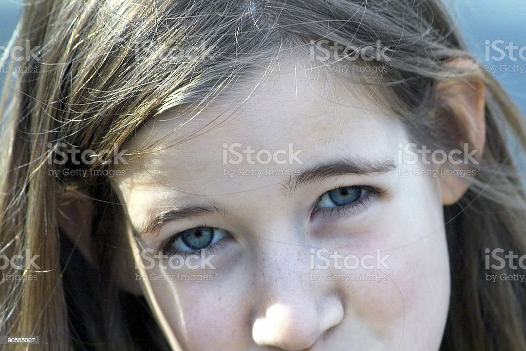 A Disbelieving Girl royalty-free stock photo