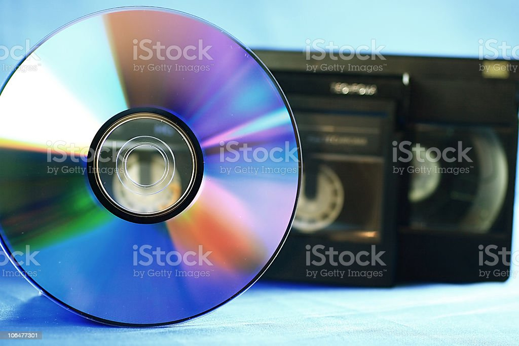 Disc and tapes stock photo
