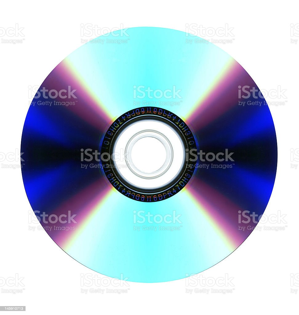 DVD disc back royalty-free stock photo