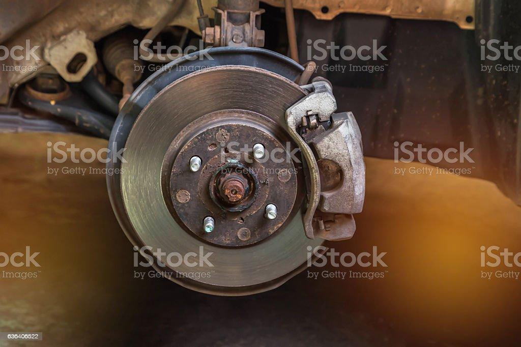 disc brake car system stock photo
