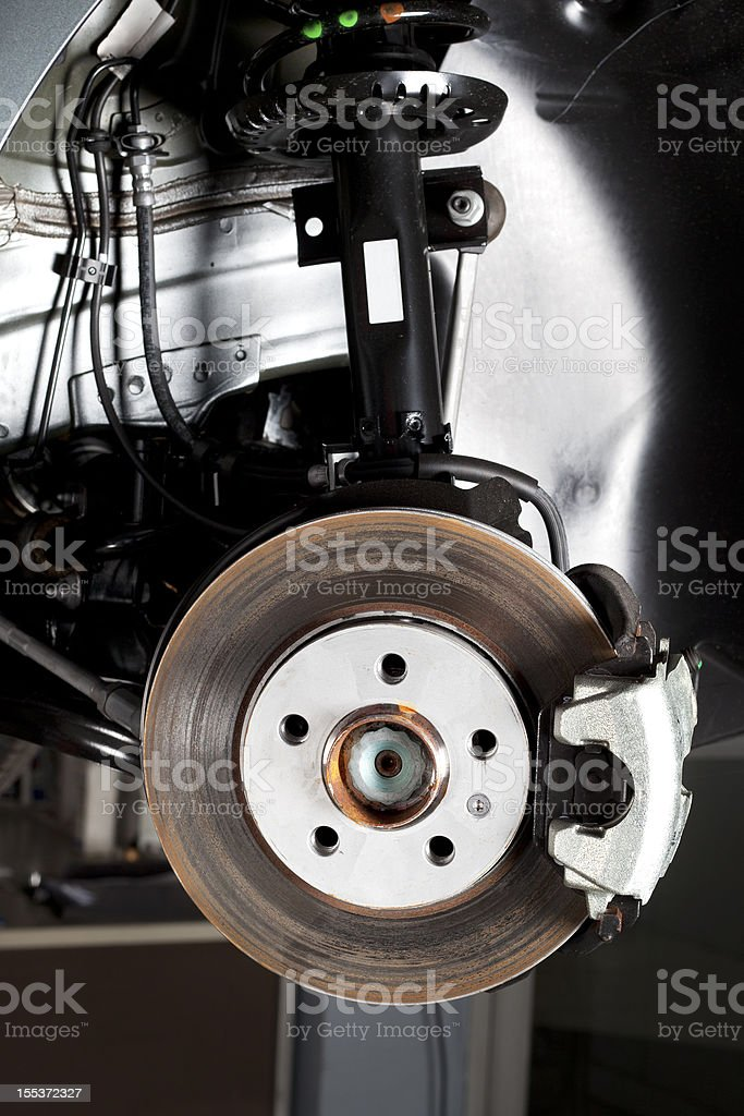 Disc brake, close-up royalty-free stock photo