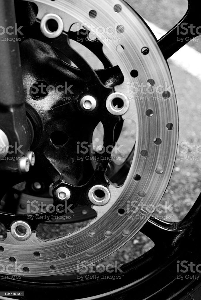 Disc Brake on A Street Bike royalty-free stock photo