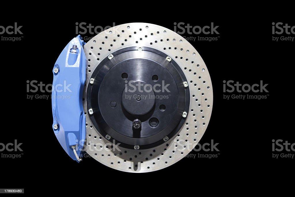 Disc Brakes isolated on black stock photo
