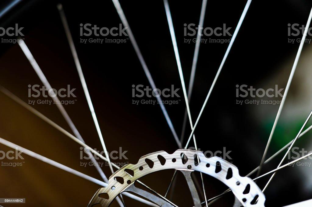 Disc Brakes of Bicycle stock photo