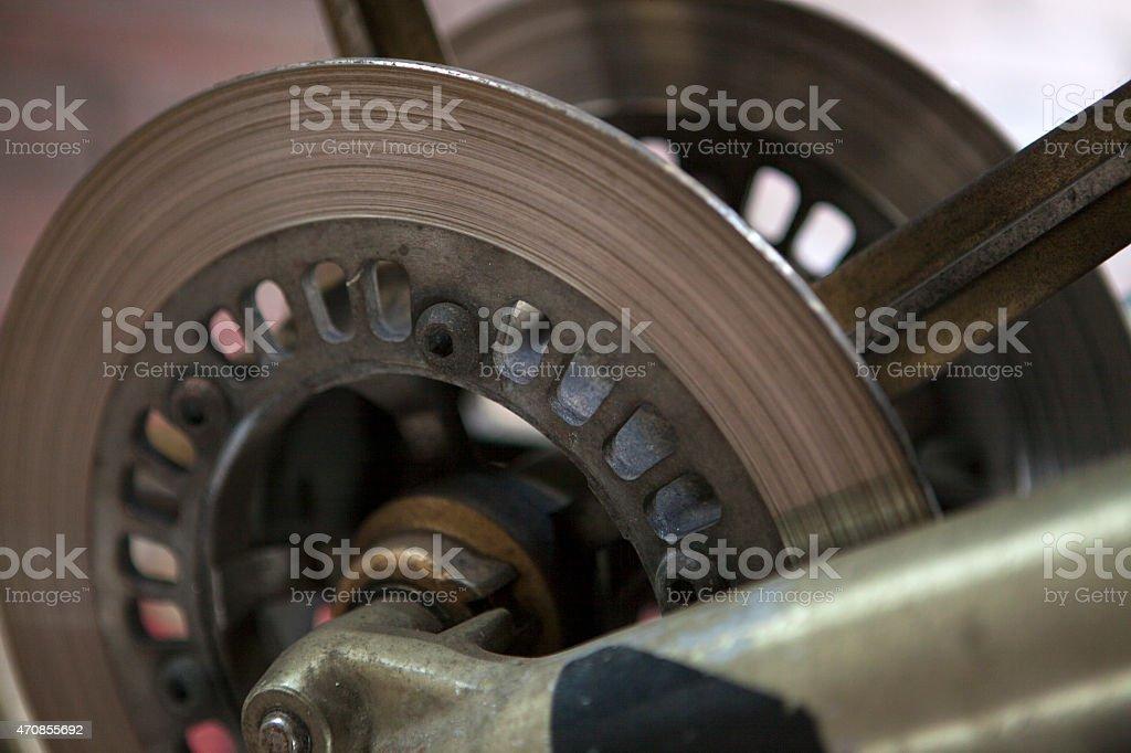 Disc brakes stock photo