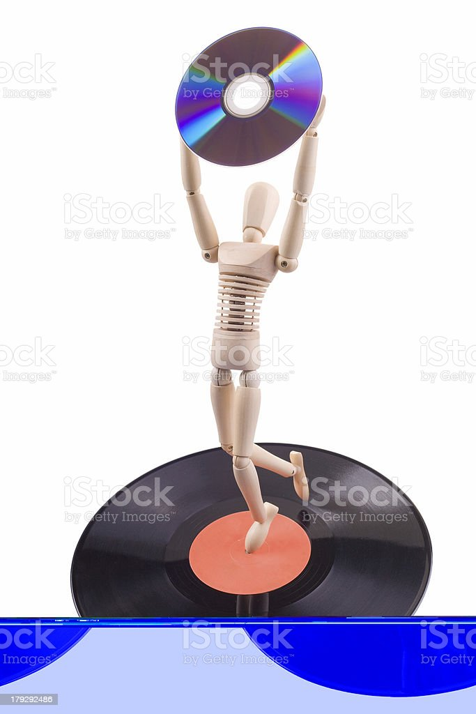 disc evolution royalty-free stock photo