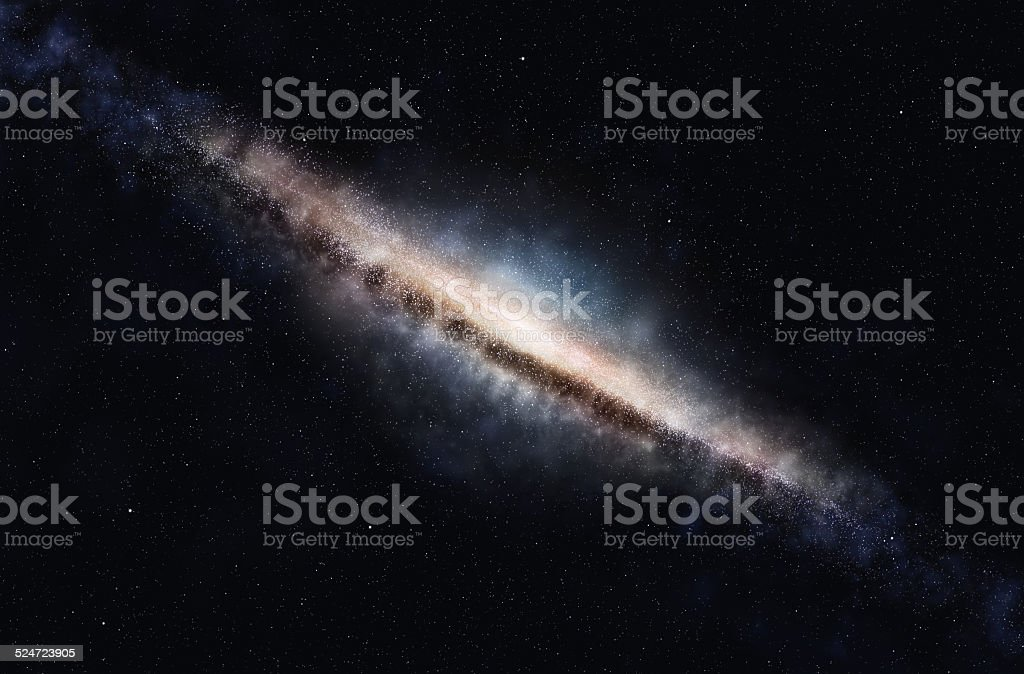 Disc galaxy stock photo