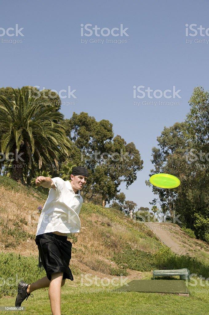 Disc Golfer stock photo