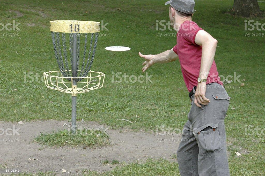 disc golfer royalty-free stock photo