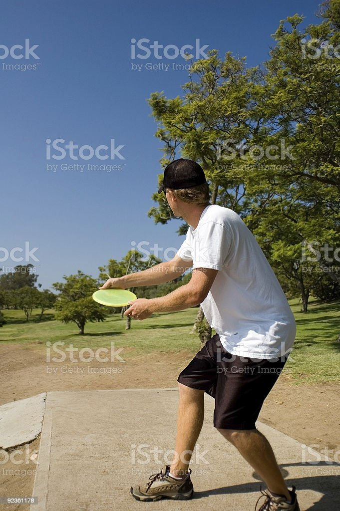 Disc Golfer royalty-free stock photo