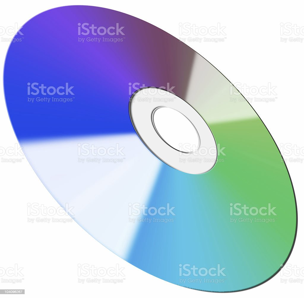 CD/DVD disc isolated on white royalty-free stock photo