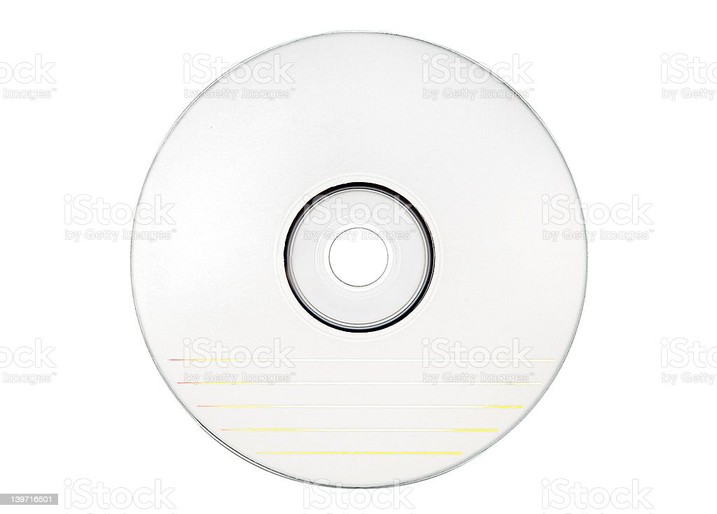 Disc Labeling - Blank White Disc w/ Path royalty-free stock photo