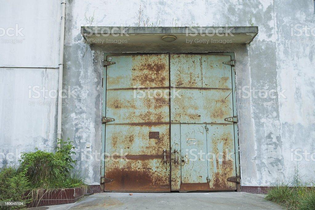 discard factory's door royalty-free stock photo