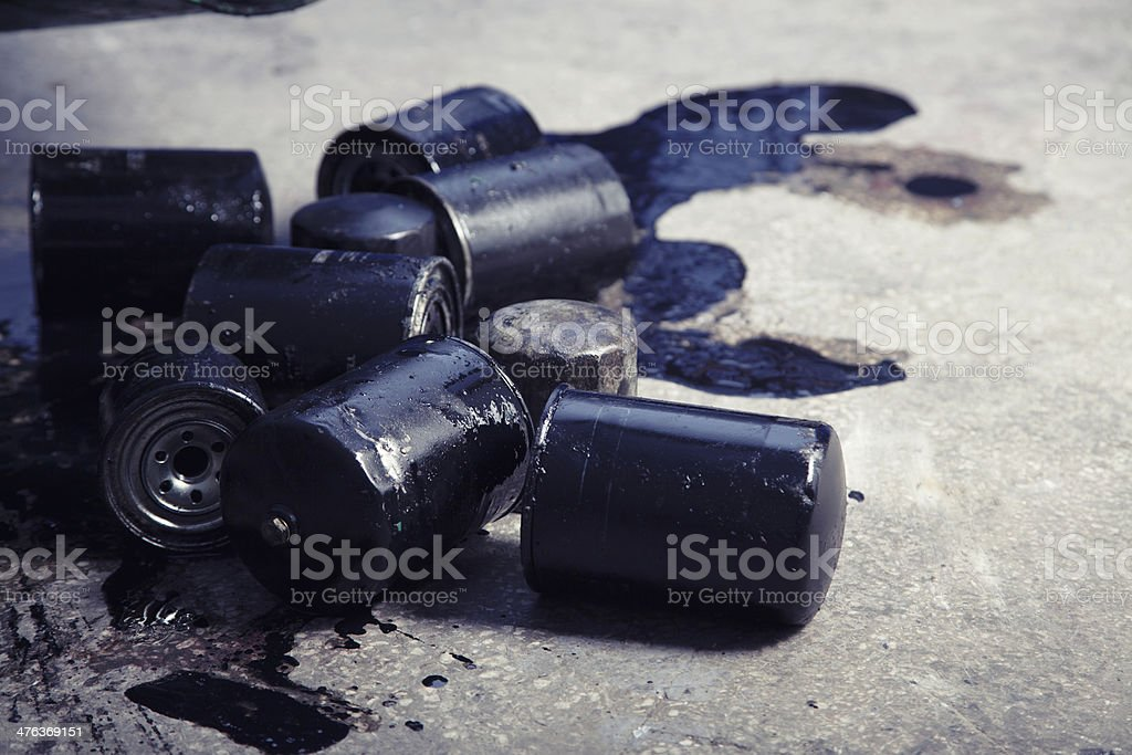 Discarded Batteries royalty-free stock photo