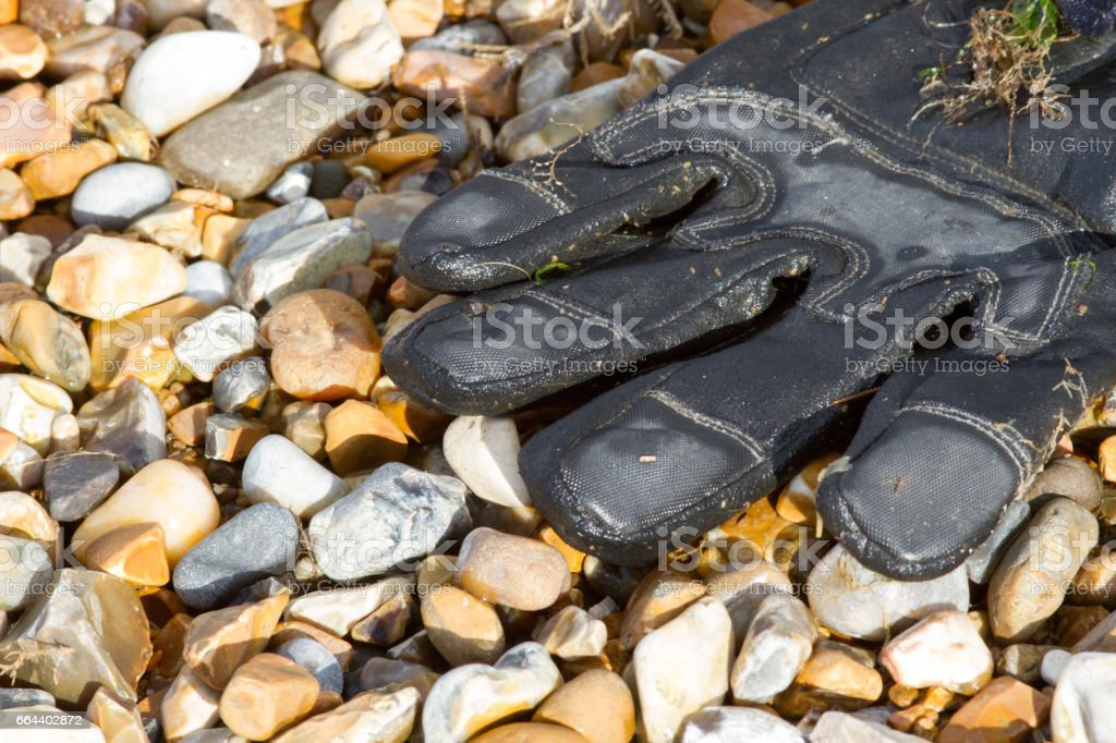 Discarded glove stock photo