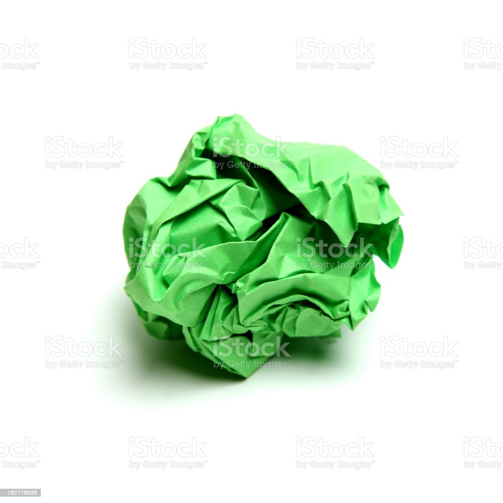 Discarded paper stock photo