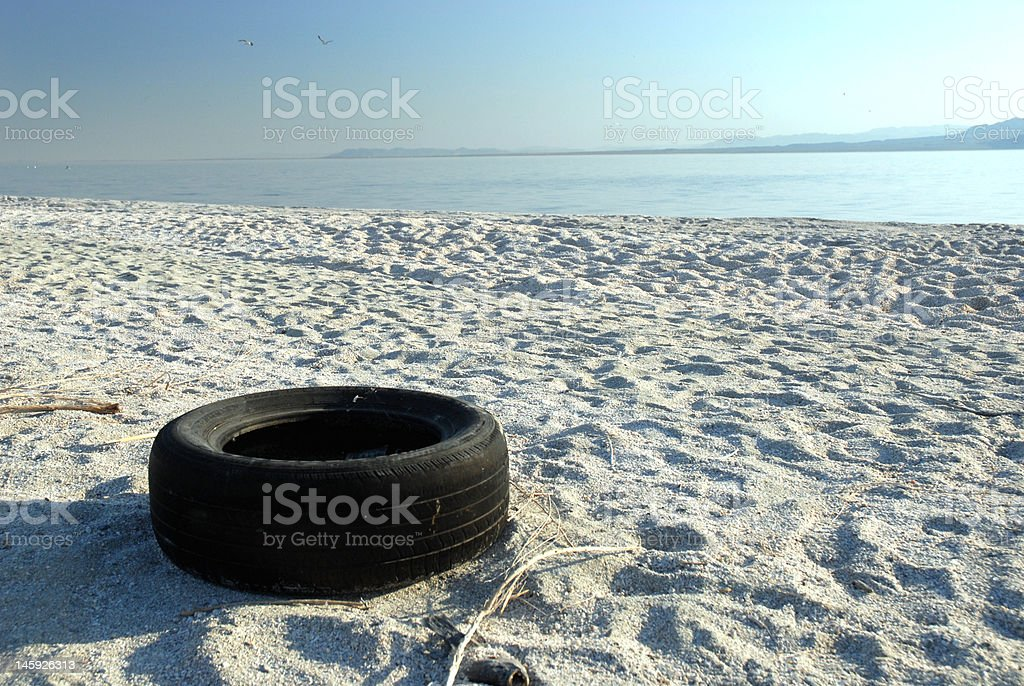 Discarded Tire royalty-free stock photo