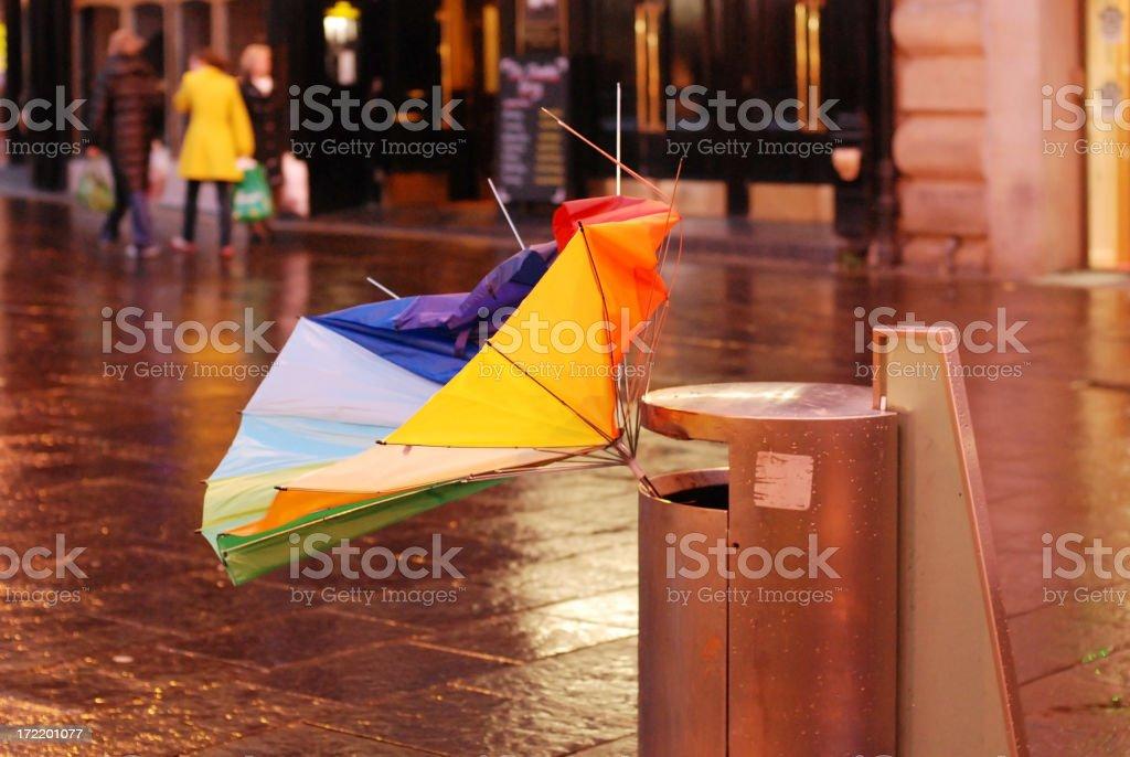 Discarded Umbrella royalty-free stock photo